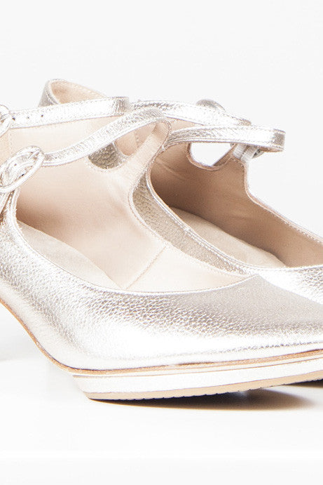 Metallic Mary-Janes by Repetto