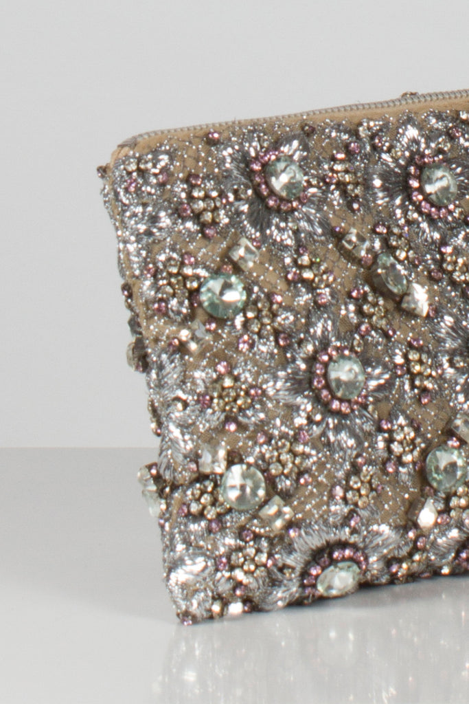 Embroidered and Crystal Embellished Clutch by Christopher Kane