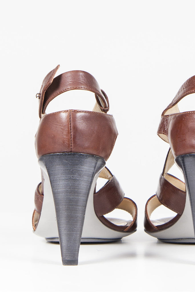 Conical-heeled sandals by Costume National