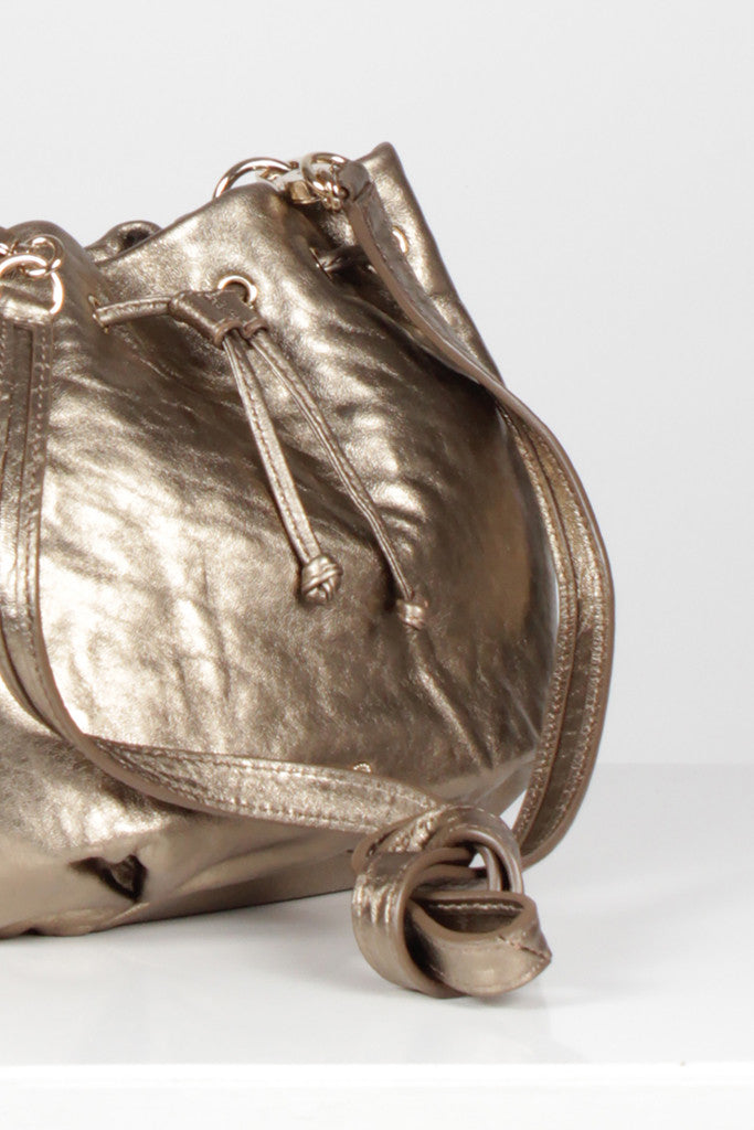 Gold Lacing Cross Body Bag by Anya Hindmarch