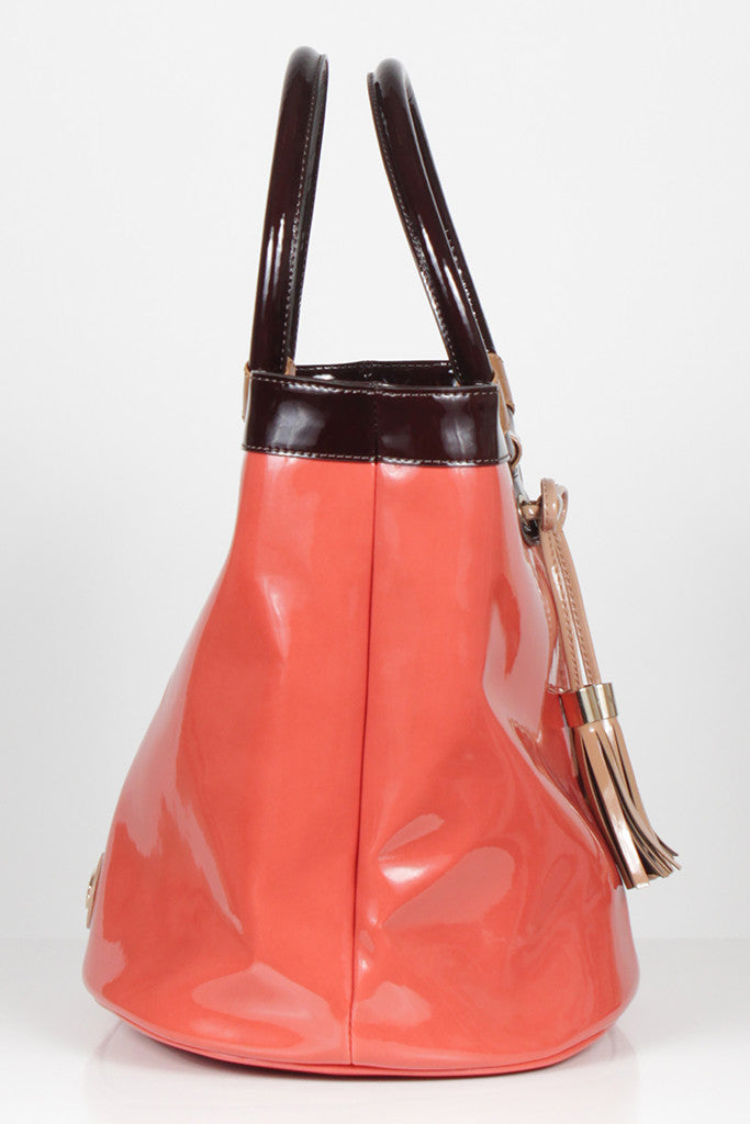 Burnt Orange Tassel Tote by Emporio Armani
