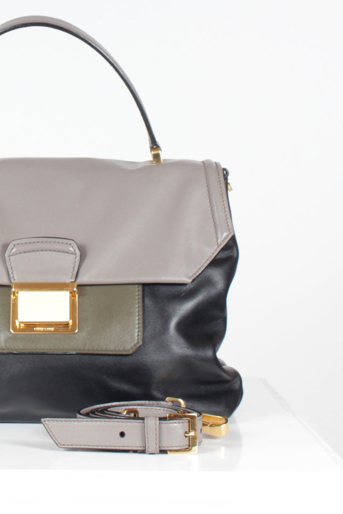 Leather Crossbody Satchel by Miu Miu