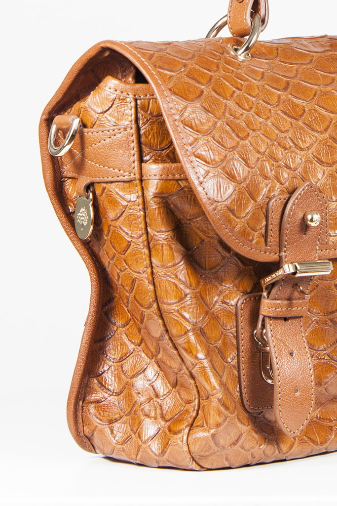 Oak mock snake leather Trout bag by Mulberry