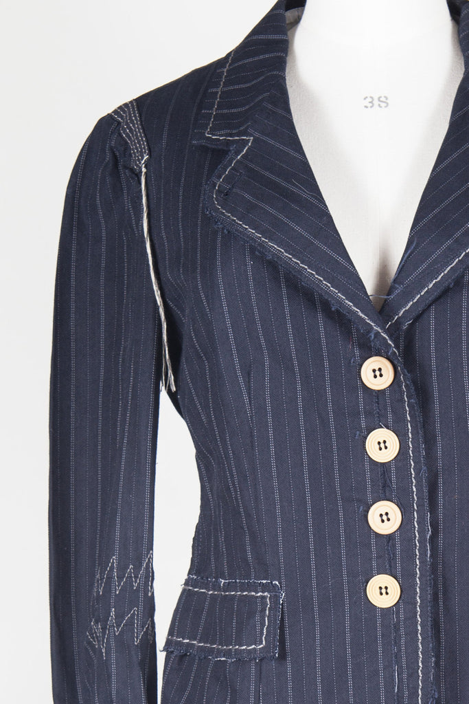 Jacket with thread detail by Marithe et Francois Girbaud