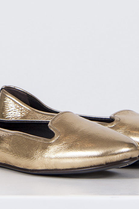 Metallic slipper flats by Rochas