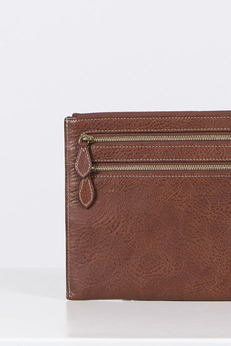 Multizip leather pouch by Mulberry