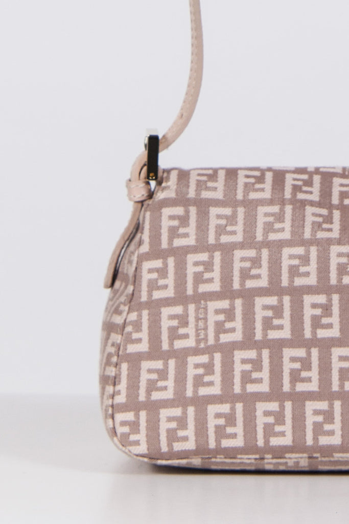 Zucca print Mini Mamma baquette bag by Fendi