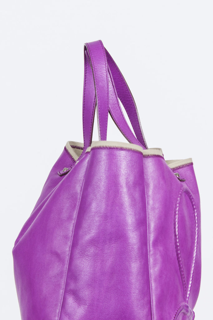 Embossed keychain tote by Yves Saint Laurent