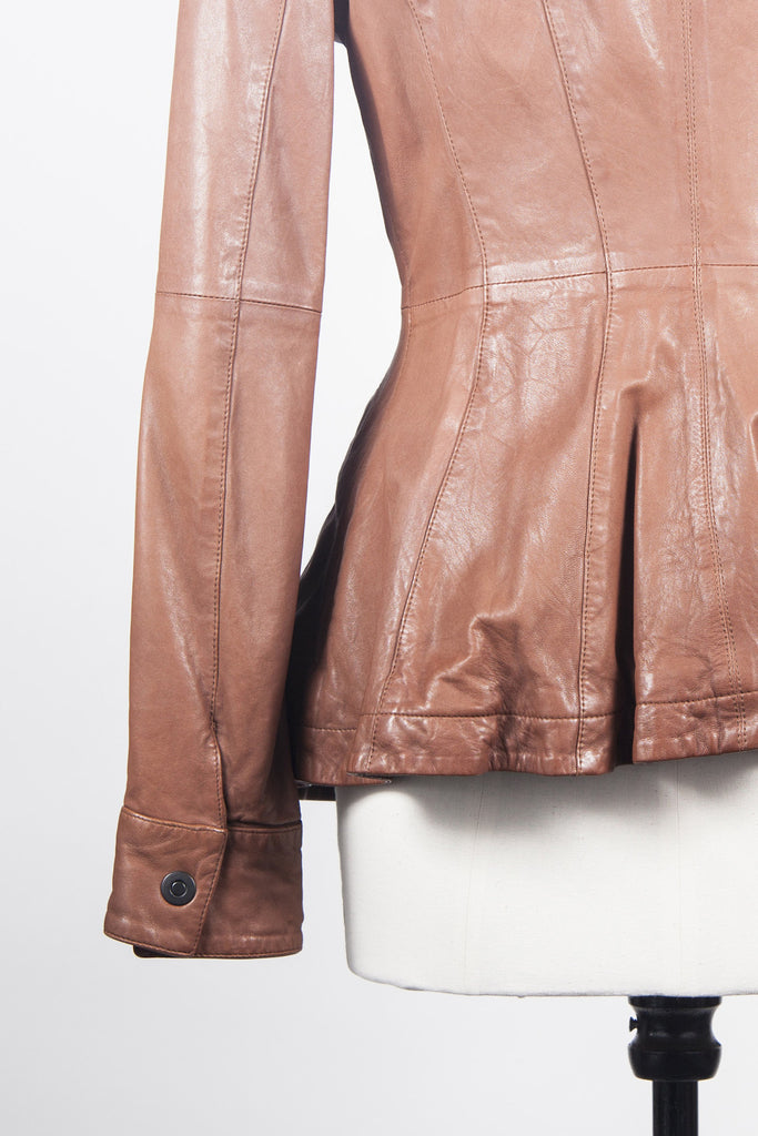 Soft leather jacket by Emporio Armani