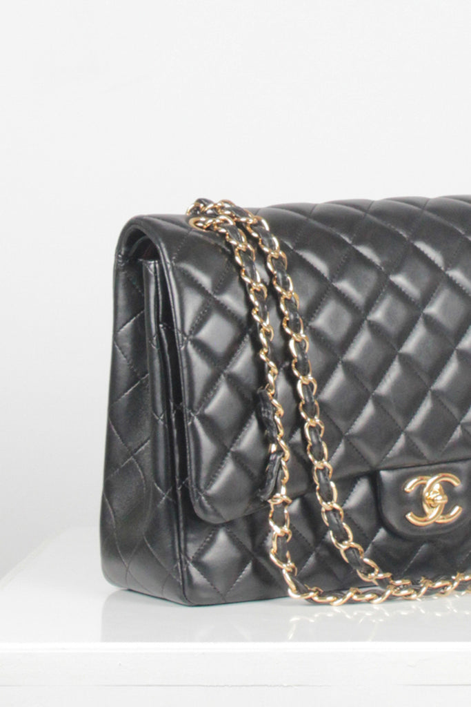 Maxi Classic Double Flap Bag by Chanel