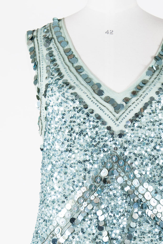 Sequinned shift dress by Antik Batik