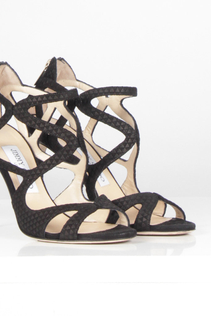 Leslie 100 Suede Strappy Sandal by Jimmy Choo