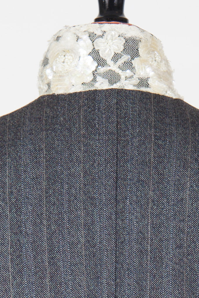 Pinstriped beaded detail blazer by Voyage