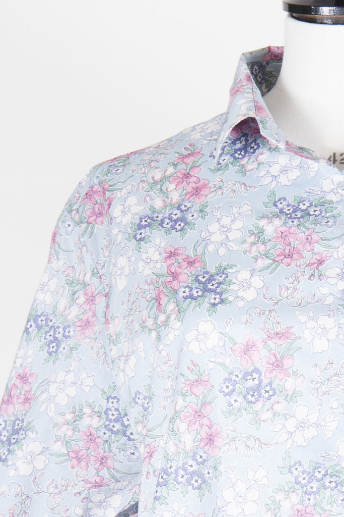 Short-sleeved flower print shirt by Liberty