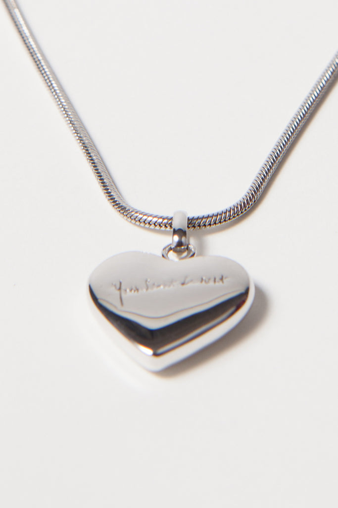 YSL silver heart necklace by Yves Saint Laurent