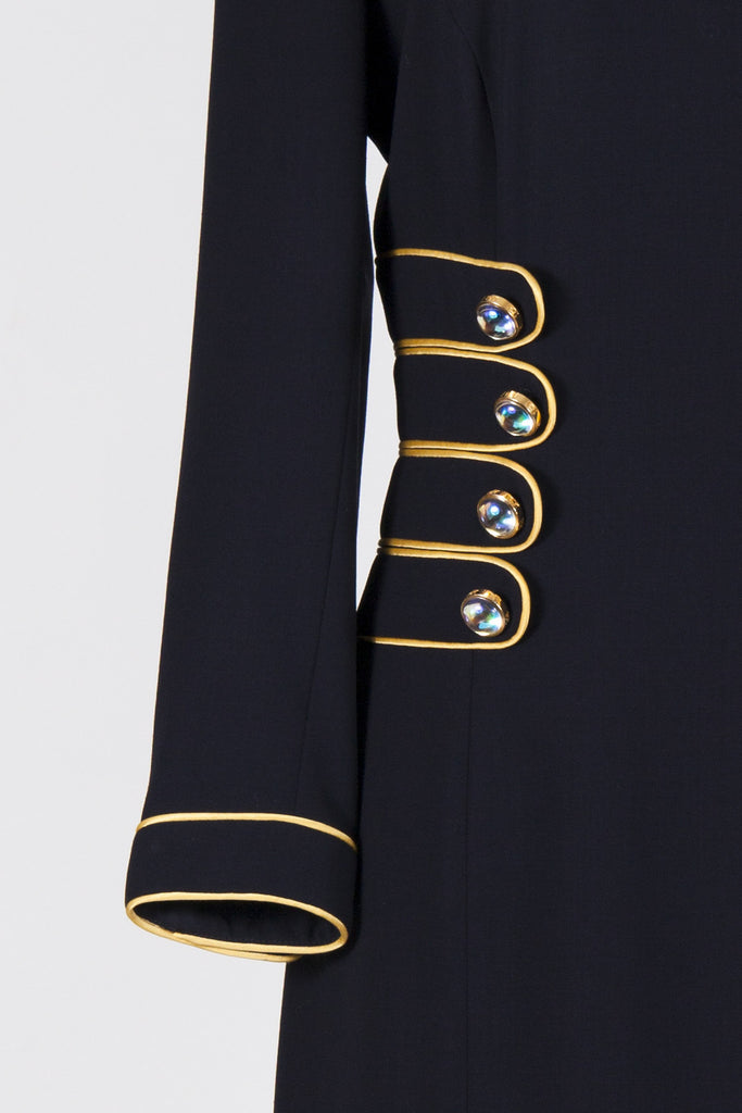Button detail dress by Escada