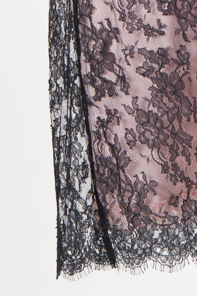 Lace dress and underslip by Collette Dinnigan