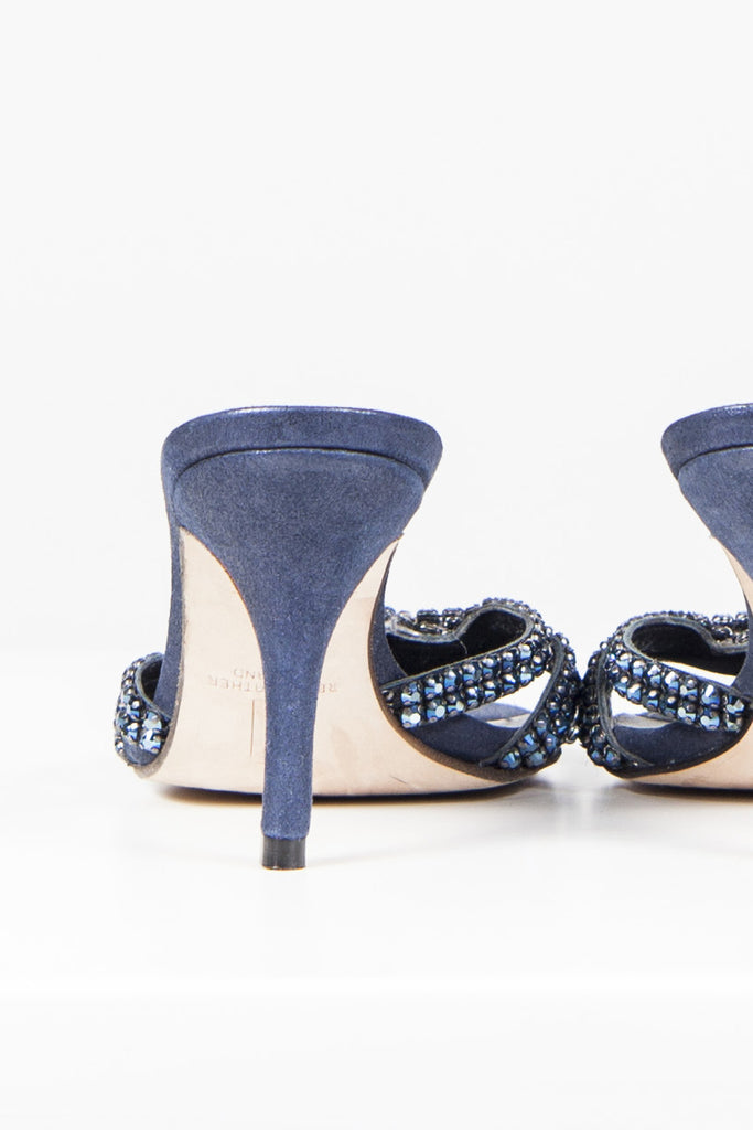 Diamante strap mules by Gina