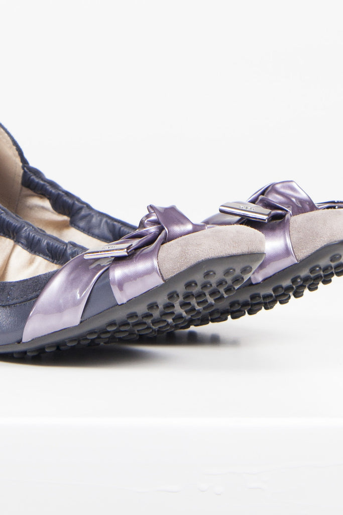Suede Degas ballet flats by Tod's
