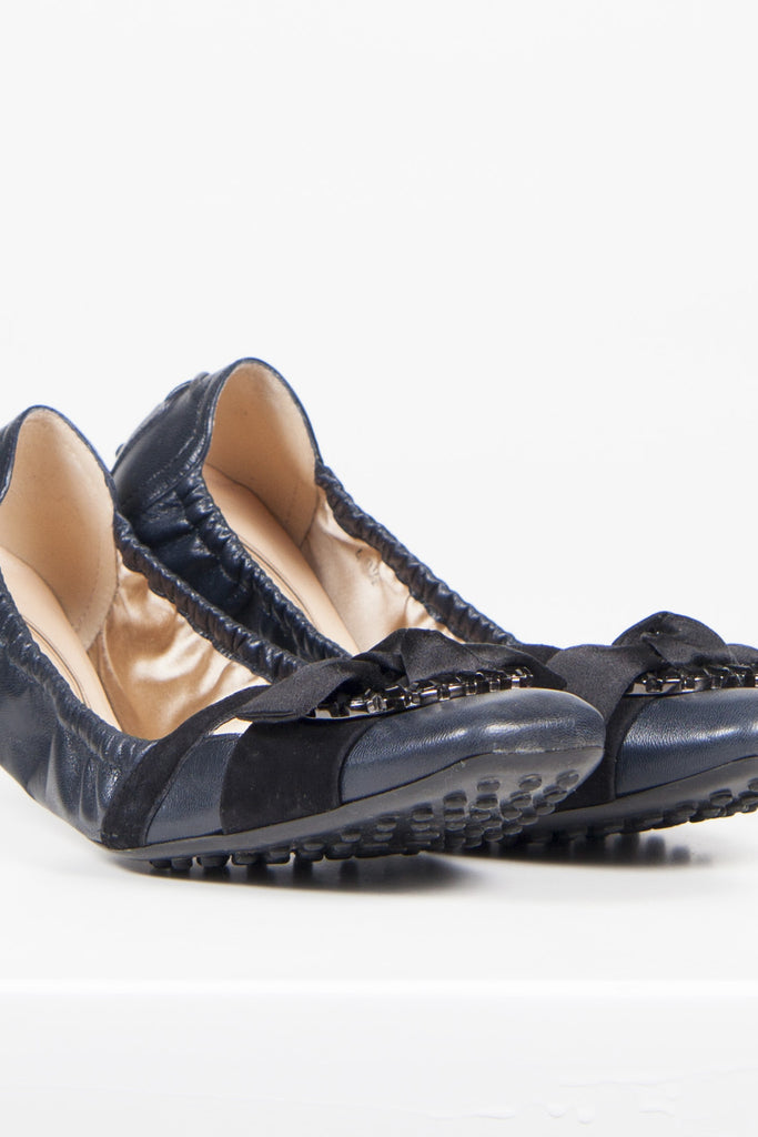 Jewelled ballet flats by Tod's