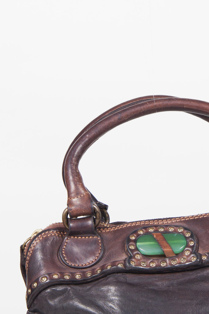Studded leather bag by Campomaggi