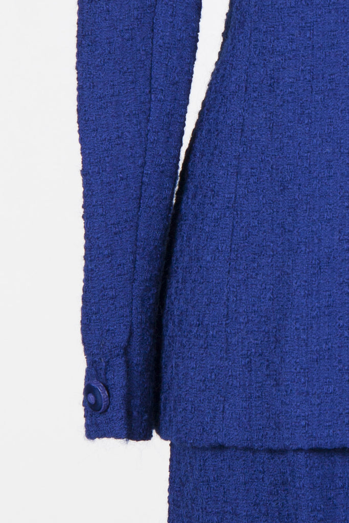 Textured wool skirt suit by Versace