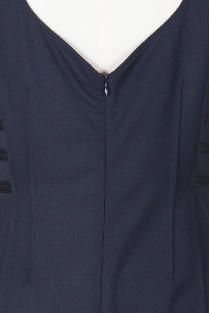Shift dress with satin neck-tie by Emporio Armani