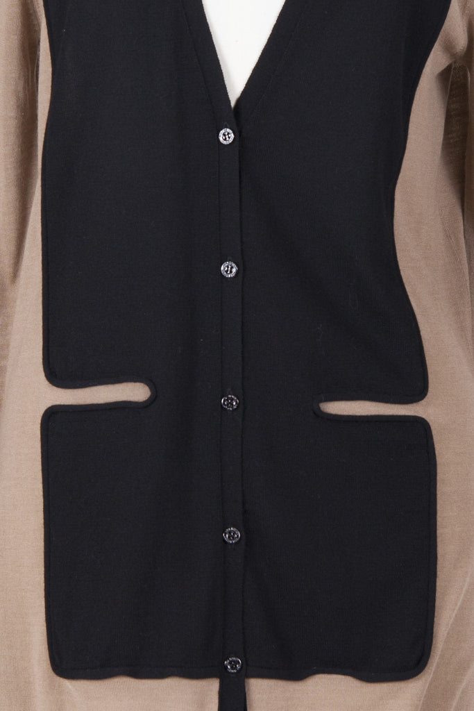 Slim-fit longline cardigan by Neil Barrett