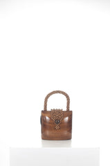 Handcrafted Acacia wood handbag by Rocio at Isabella's Wardrobe