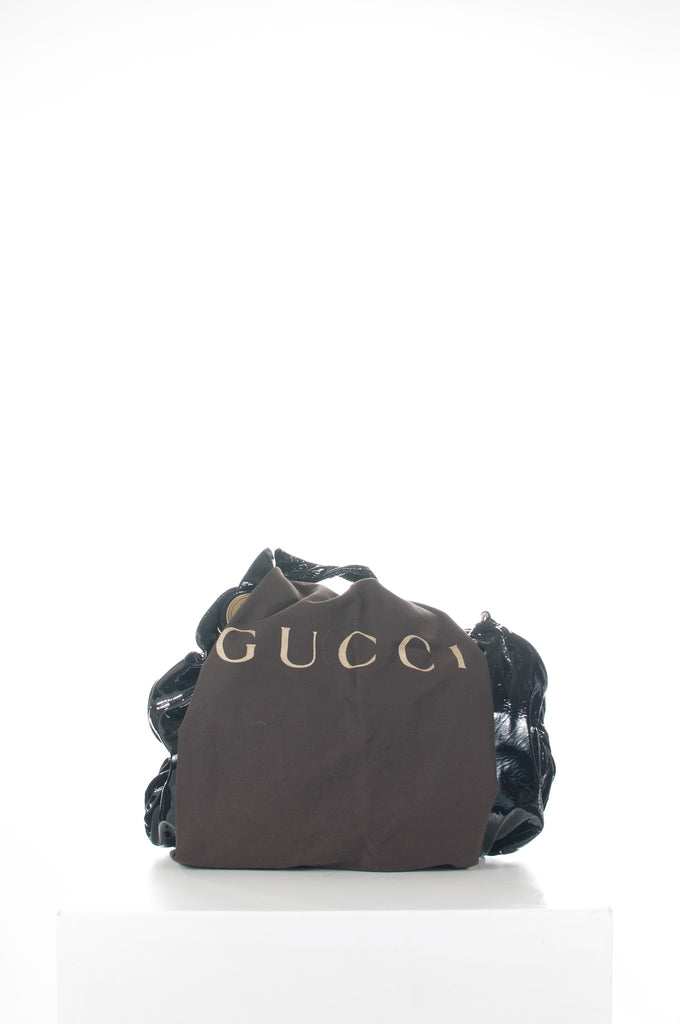 Hysteria patent hobo bag by Gucci