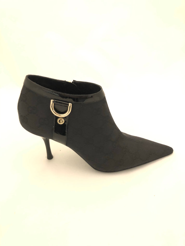 Vintage Stunner GG Canvas Ankle Boots by Gucci