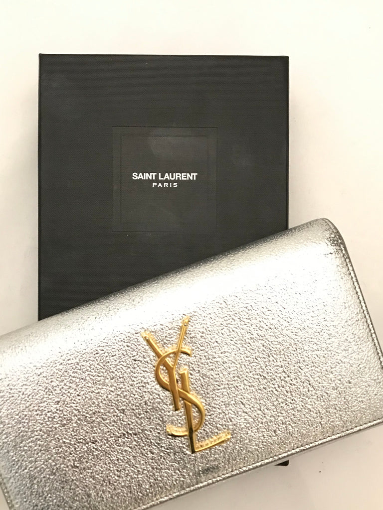 Metallic Purse by YSL