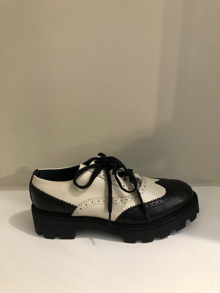 Black & White England Brogues by Mulberry