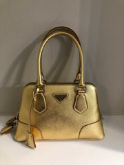 Saffiano Gold Promenade by Prada at Isabella's Wardrobe