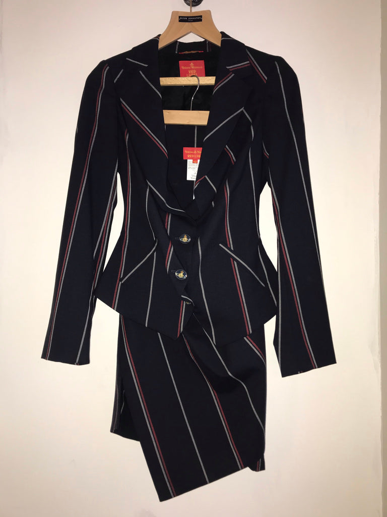 Pinstripe Skirt Suit by Vivienne Westwood Red Label