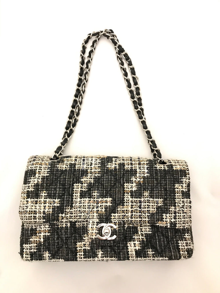 Classic Tweed Flap Bag by Chanel