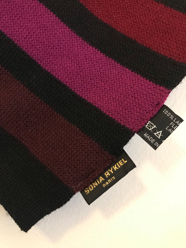 Striped Wool Scarf by Sonia Rykiel