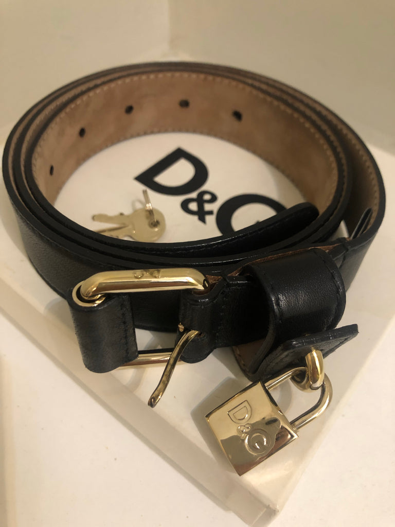 Leather Padlock Belt by D&G