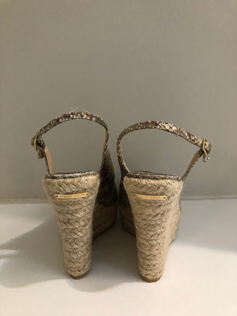 Polar Snakeprint Espadrille Wedges by Jimmy Choo