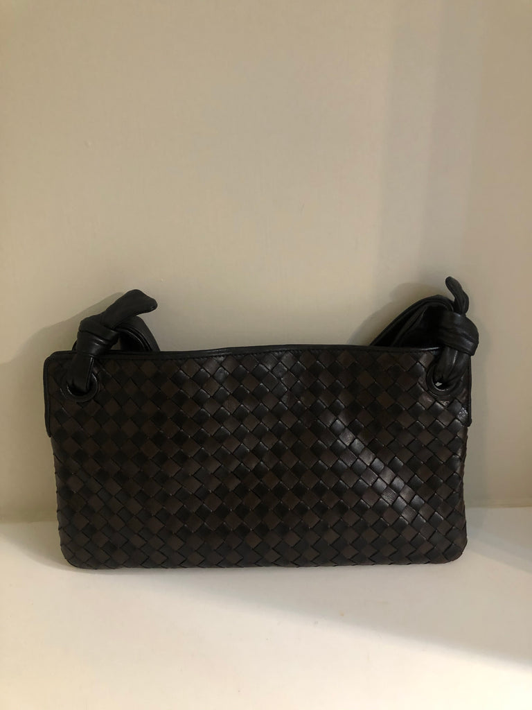 Two Tone Vintage Intrecciato Shoulder Bag by Bottega Veneta