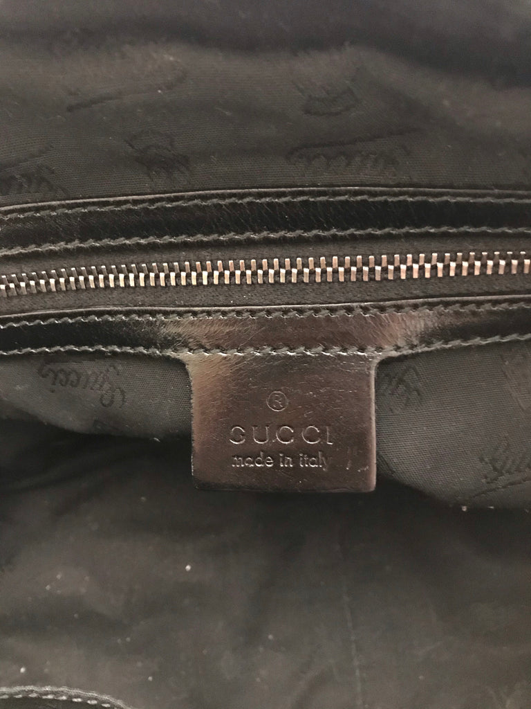 Shimmer Oiled Icon Bit Boston Bag by Gucci