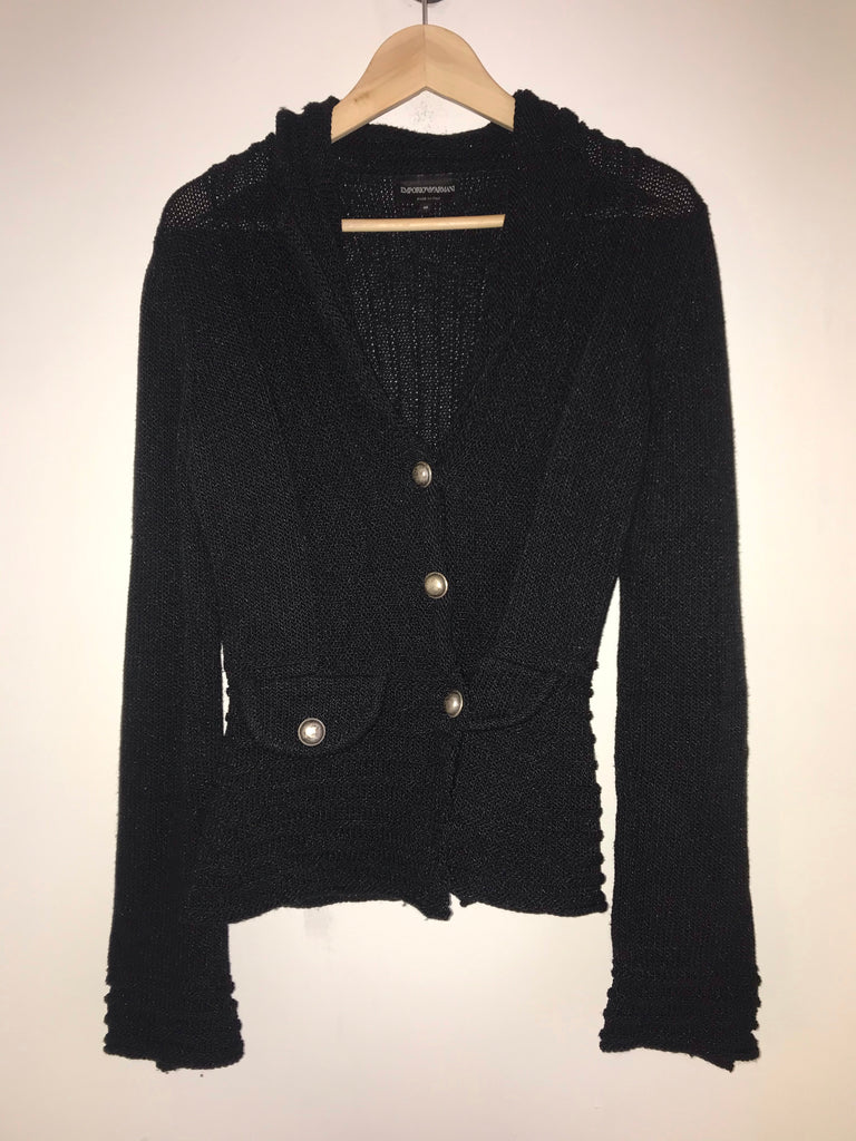 Chunky Knit Cardigan by Emporio Armani