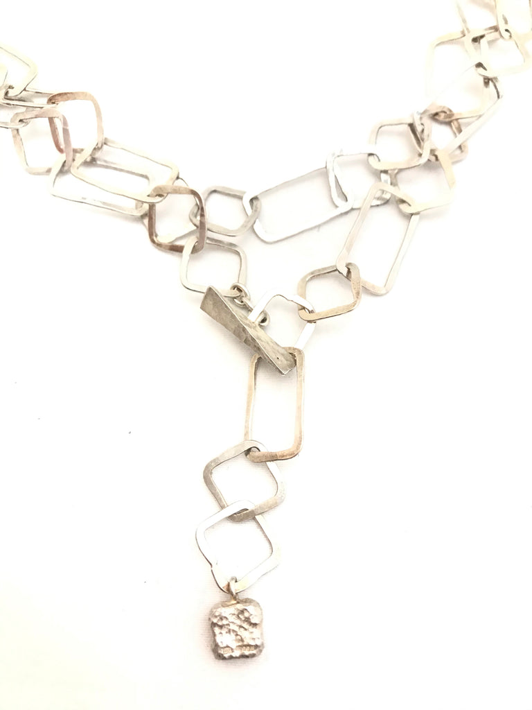 Square Chain Link Necklace by Hamilton & Inches