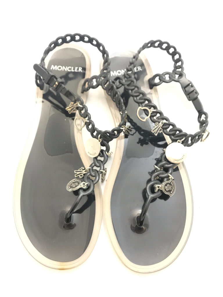 Jelly Charm Sandals. by Moncler