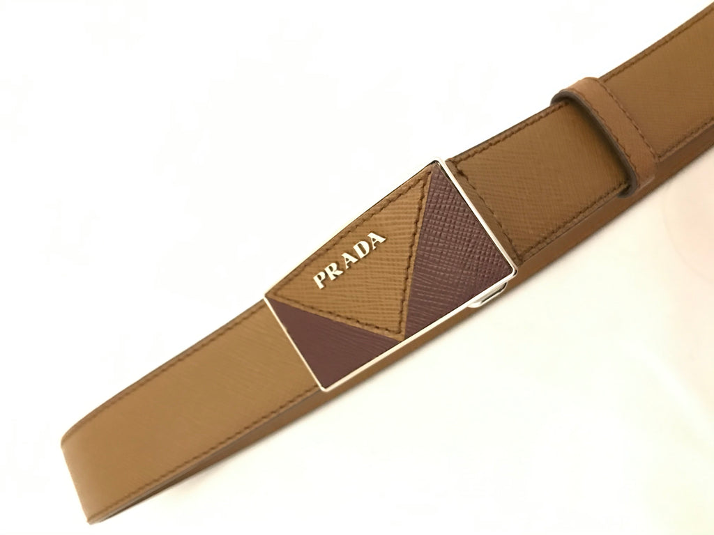 Textured Leather Belt by Prada