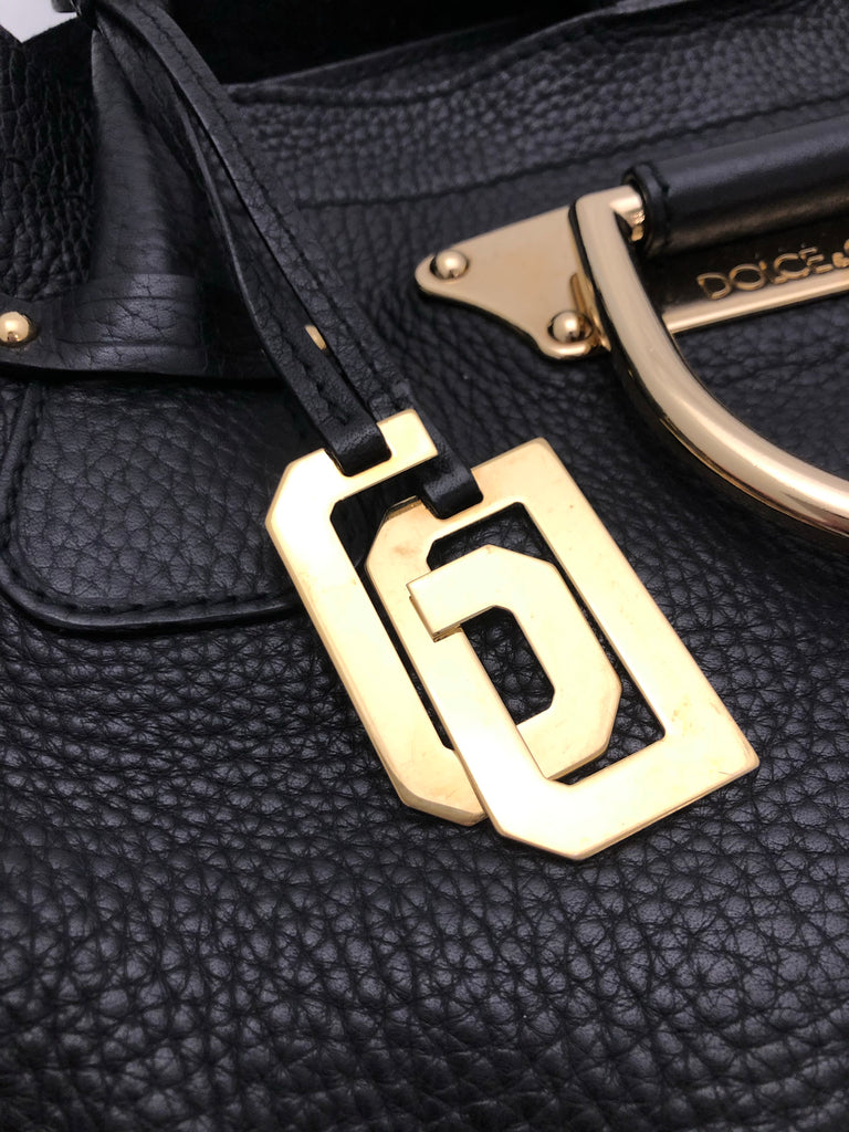 Hoop Detail Leather Bag by Dolce & Gabbana
