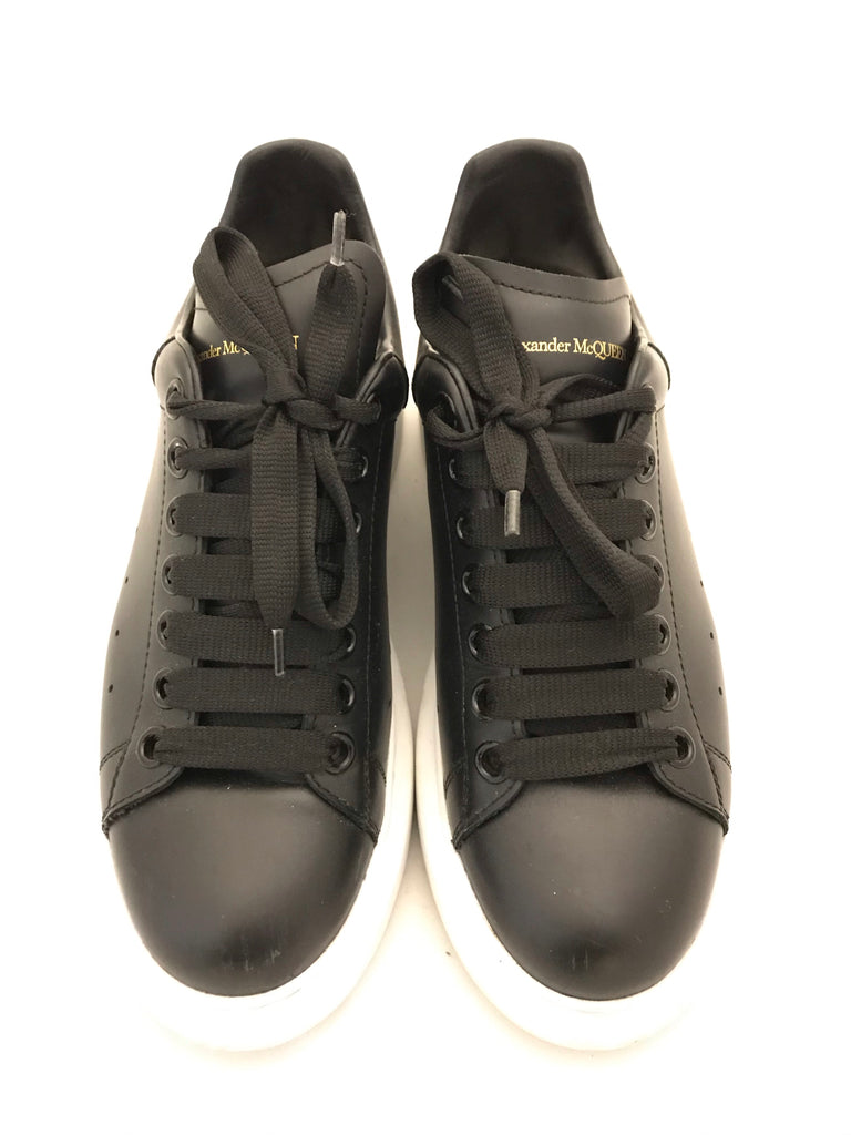 Oversized Leather Sneakers by Alexander McQueen