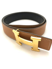 Constance Reversible H Belt by Hermes at Isabella's Wardrobe