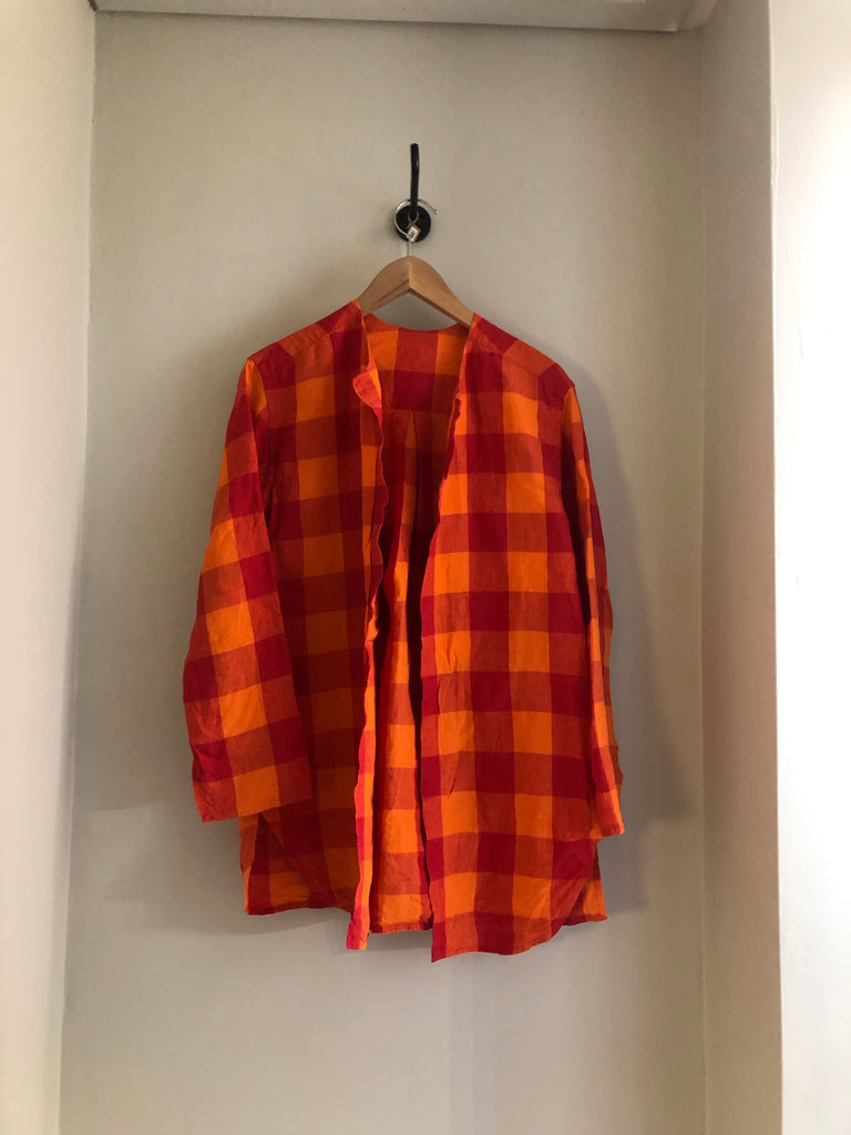 Chequered Linen Jacket by Daniela Gregis