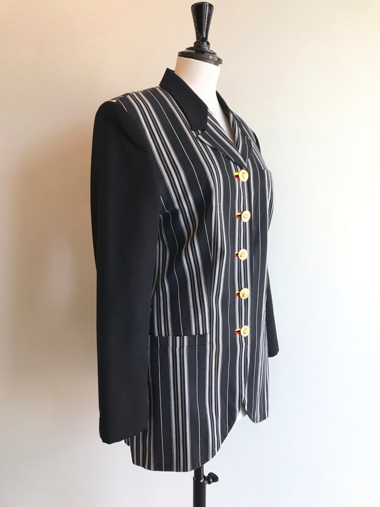 Vintage Striped Blazer by Versus Versace